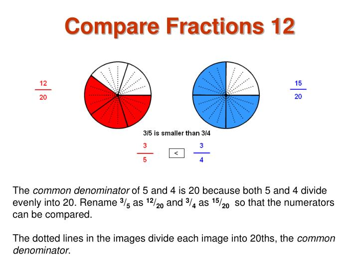 Compare Fractions 12