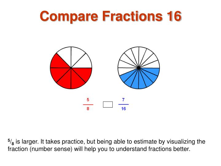 Compare Fractions 16