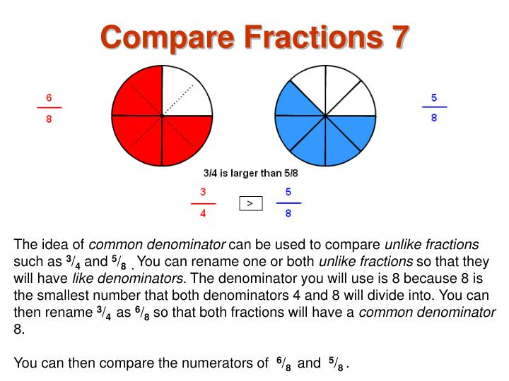Compare Fractions 7