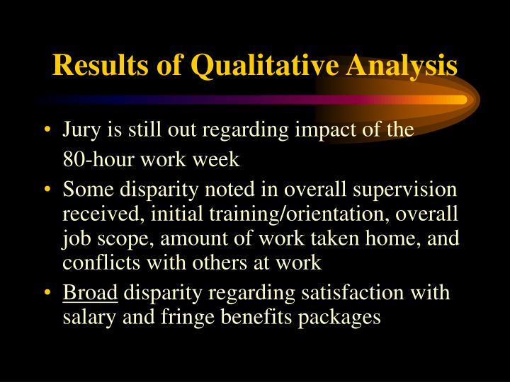 Results of Qualitative Analysis