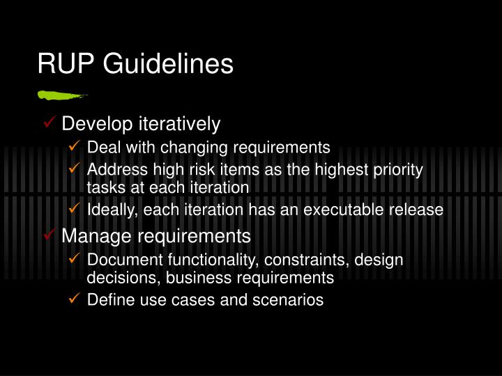 RUP Guidelines