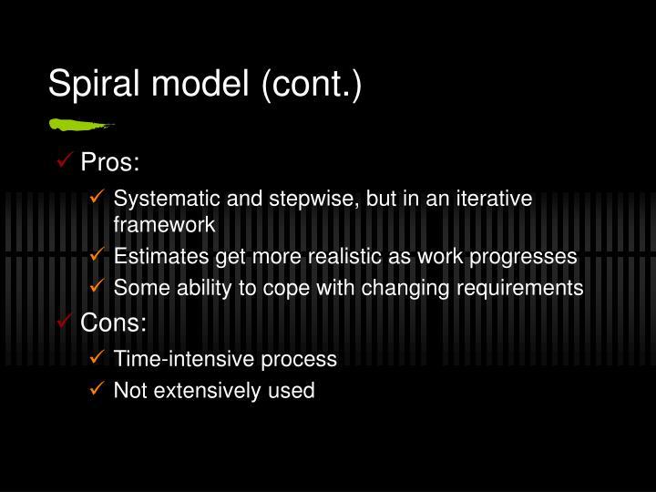 Spiral model (cont.)