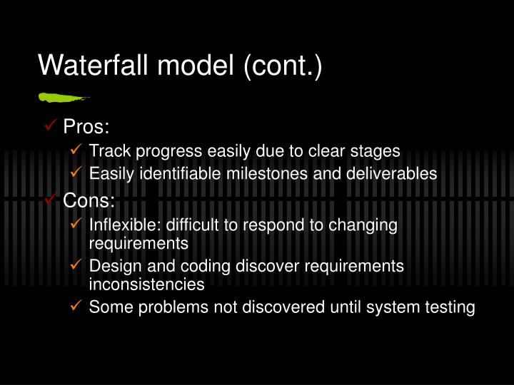 Waterfall model (cont.)
