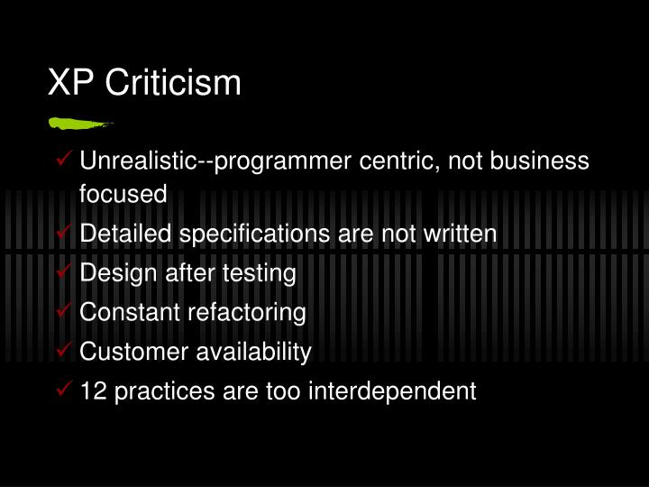 XP Criticism