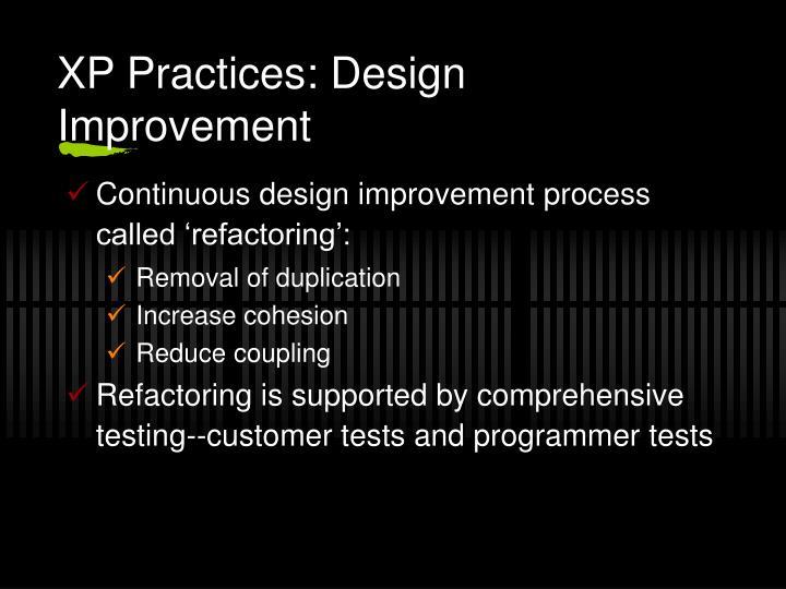 XP Practices: Design Improvement