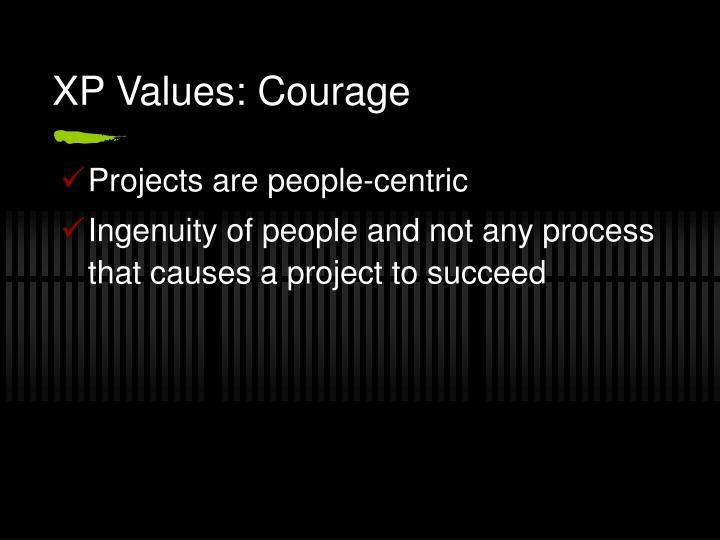 XP Values: Courage