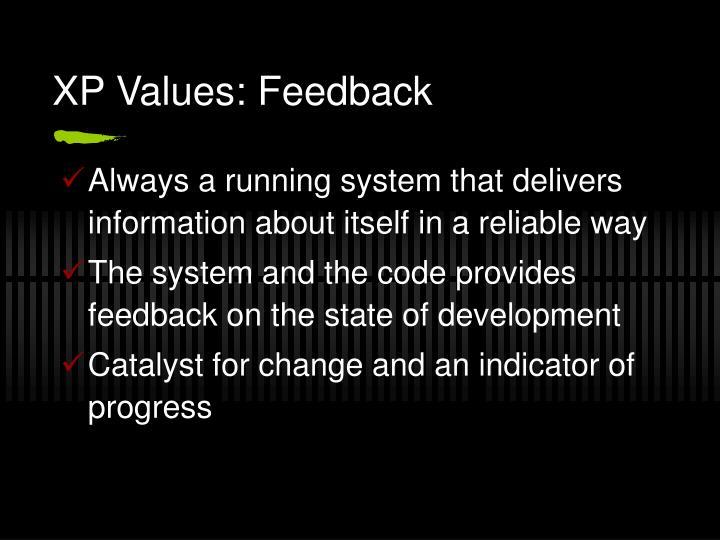 XP Values: Feedback