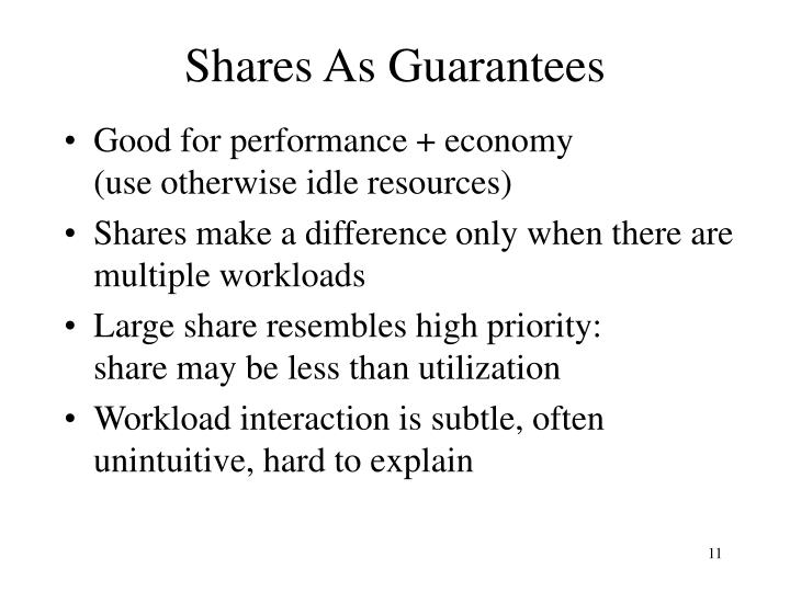 Shares As Guarantees