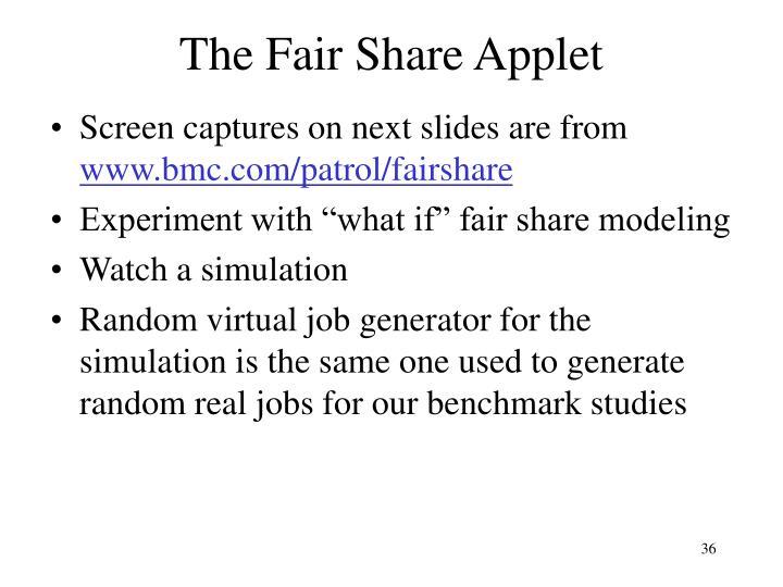 The Fair Share Applet