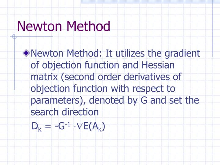 Newton Method
