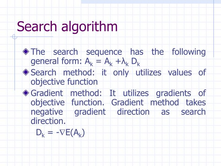 Search algorithm