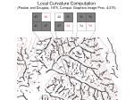 local curvature computation peuker and douglas 1975 comput graphics image proc 4 375