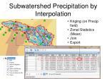 subwatershed precipitation by interpolation