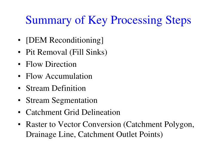 Summary of Key Processing Steps