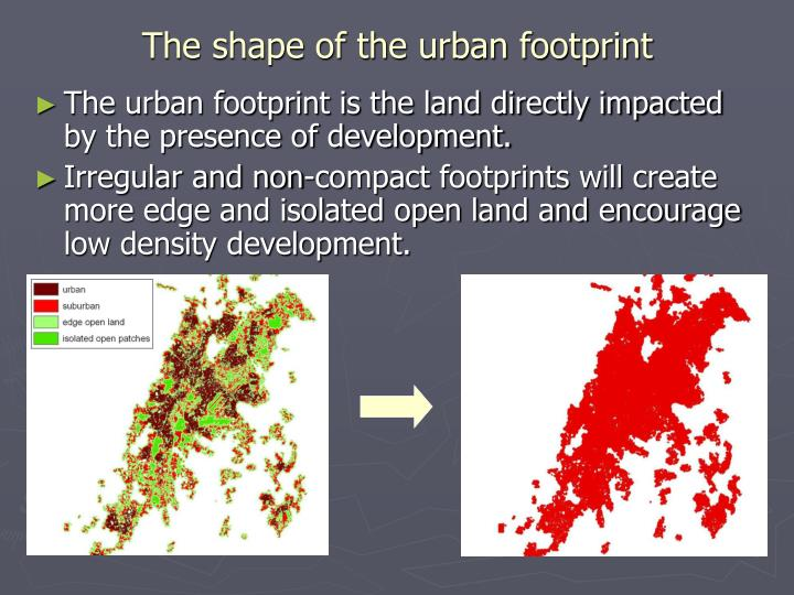 The shape of the urban footprint