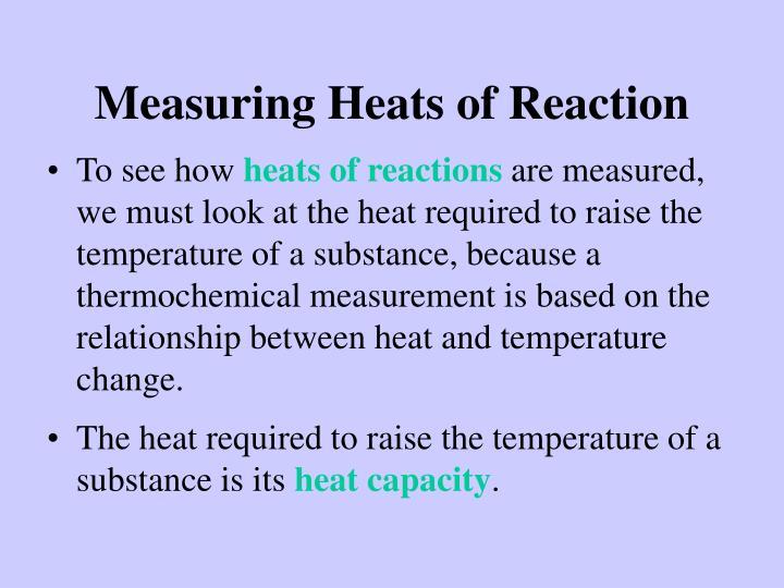 Measuring Heats of Reaction