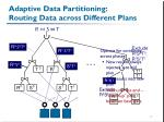 adaptive data partitioning routing data across different plans