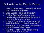 b limits on the court s power