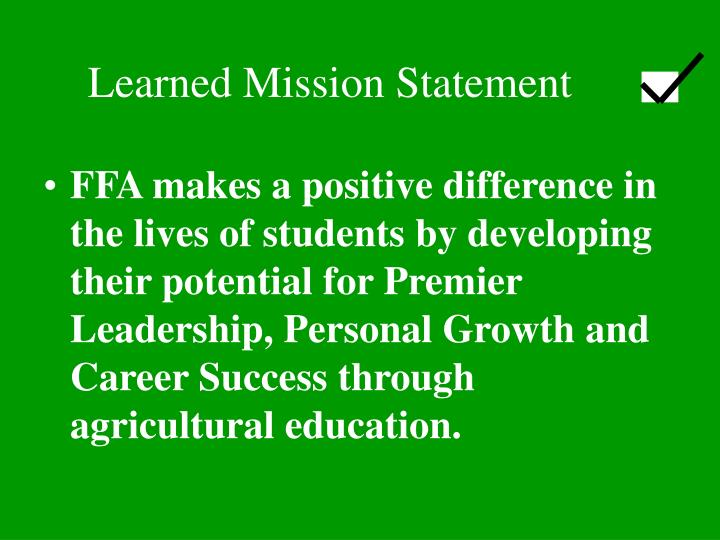 Learned Mission Statement