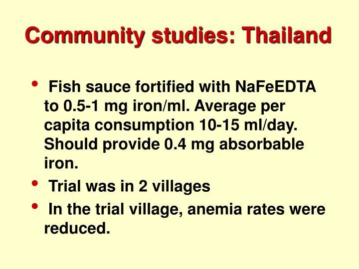 Community studies: Thailand