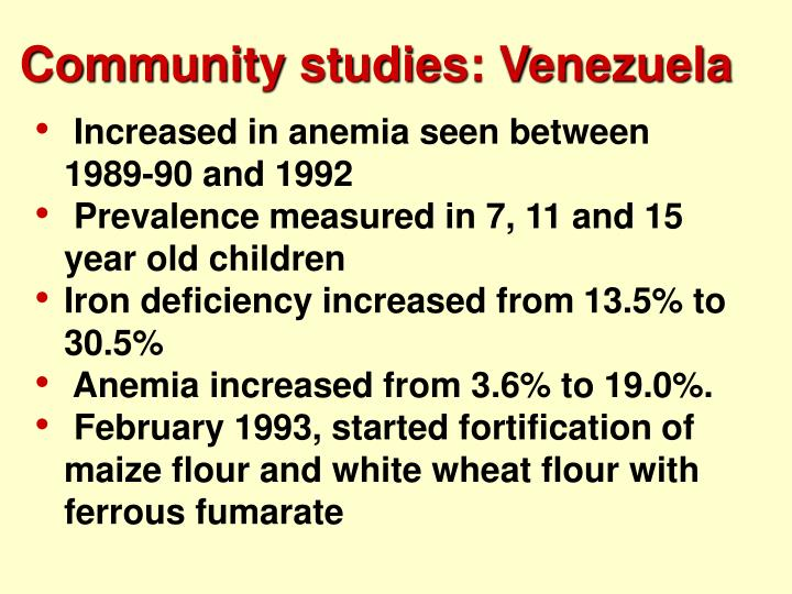 Community studies: Venezuela