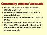 community studies venezuela