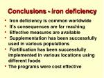 conclusions iron deficiency