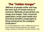 the hidden hunger