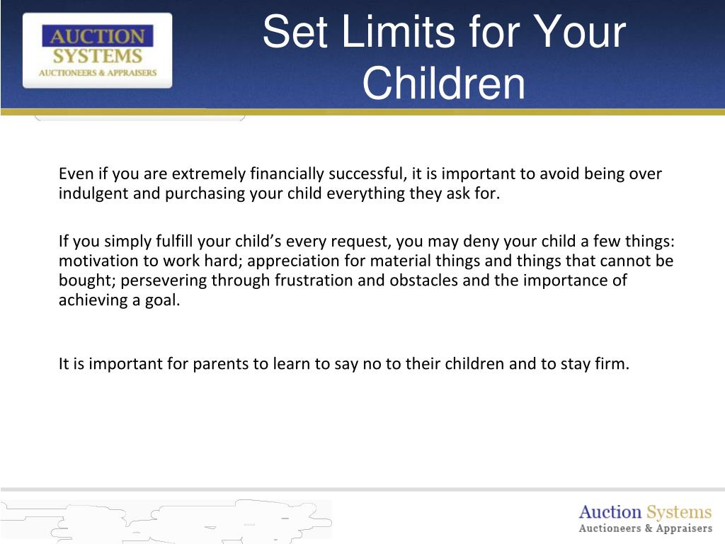Set Limits for Your Children