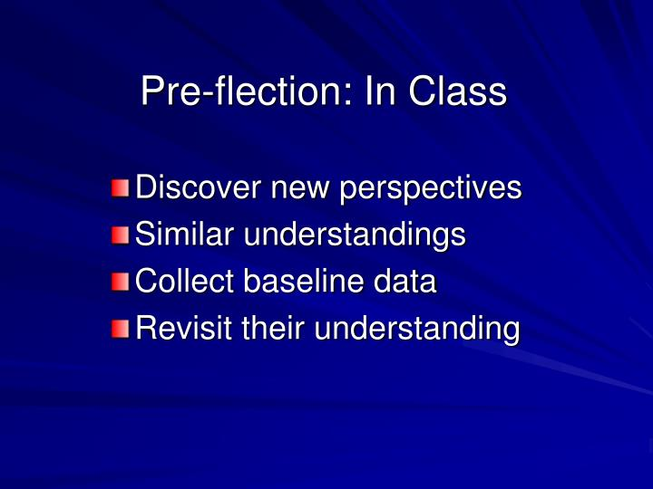 Pre-flection: In Class