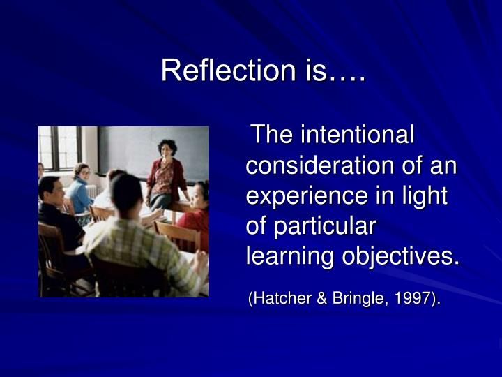 Reflection is….