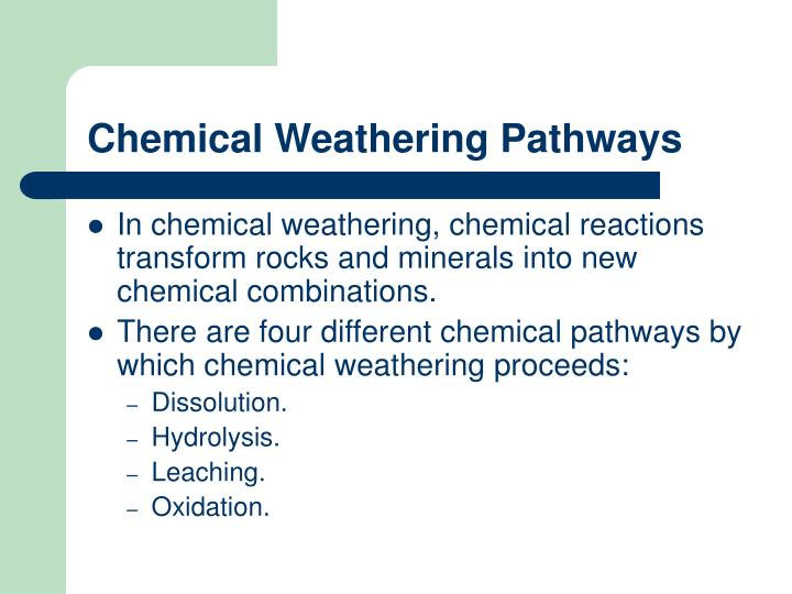 Chemical Weathering Pathways