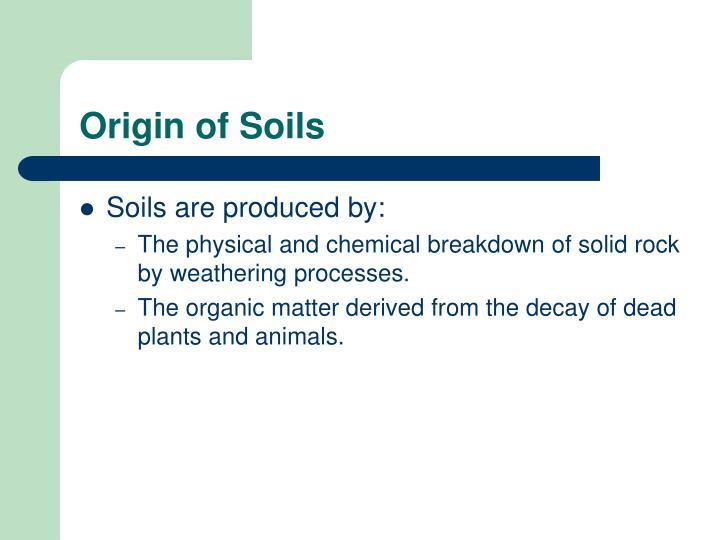 Origin of Soils