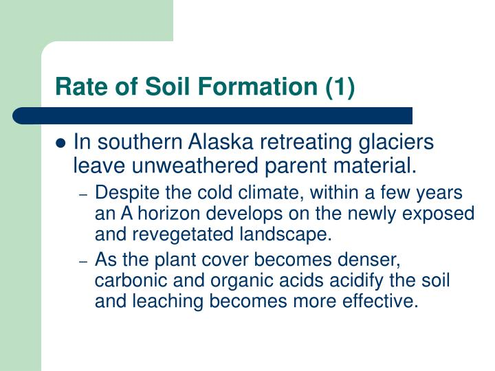 Rate of Soil Formation (1)