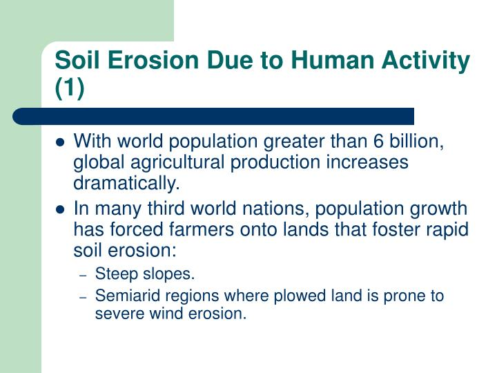 Soil Erosion Due to Human Activity (1)