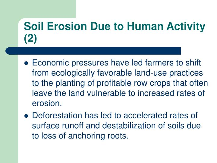 Soil Erosion Due to Human Activity (2)