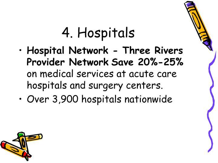 4. Hospitals
