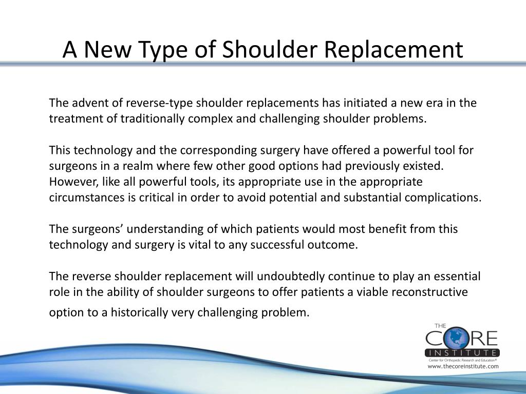 A New Type of Shoulder Replacement