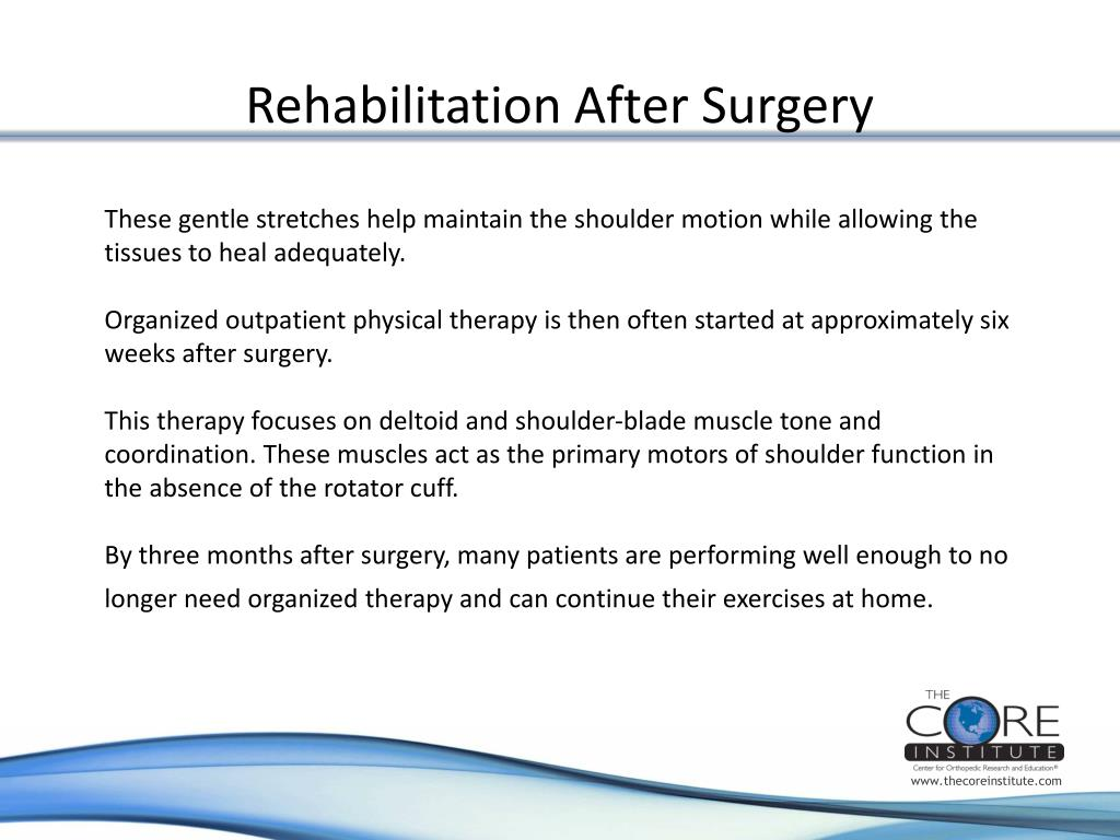 Rehabilitation After Surgery