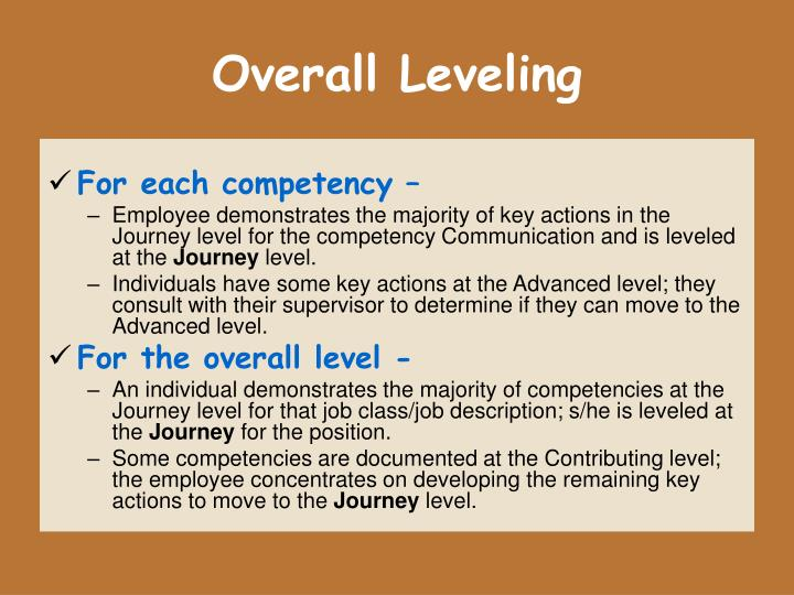 Overall Leveling