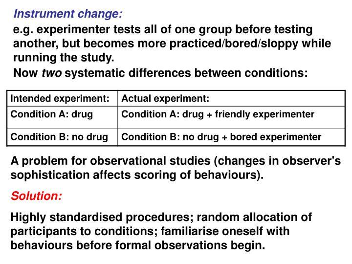 Instrument change: