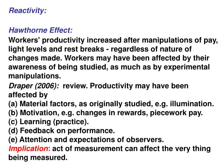 Reactivity: