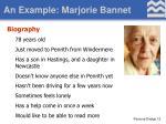 an example marjorie bannet