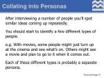 collating into personas