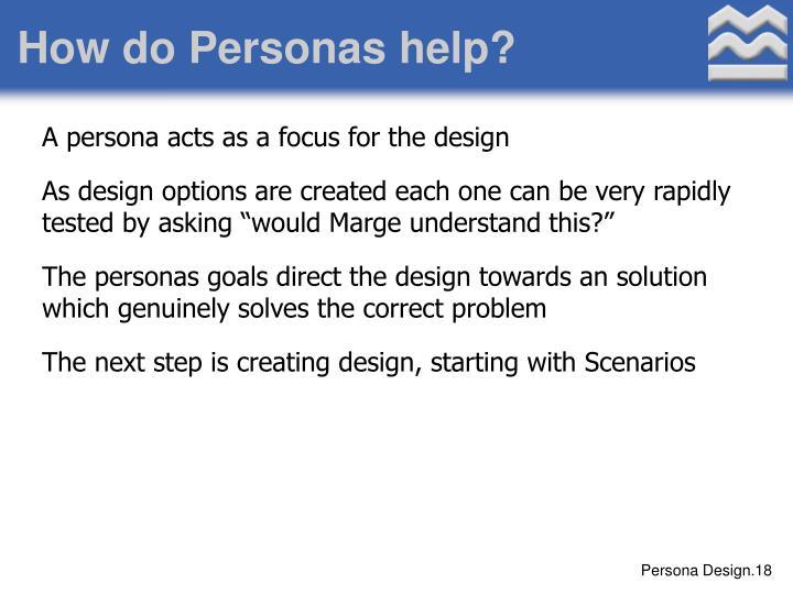 How do Personas help?