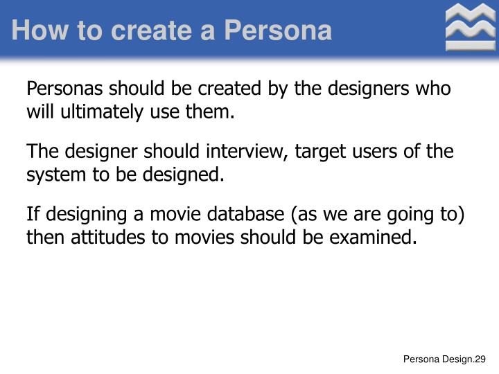 How to create a Persona