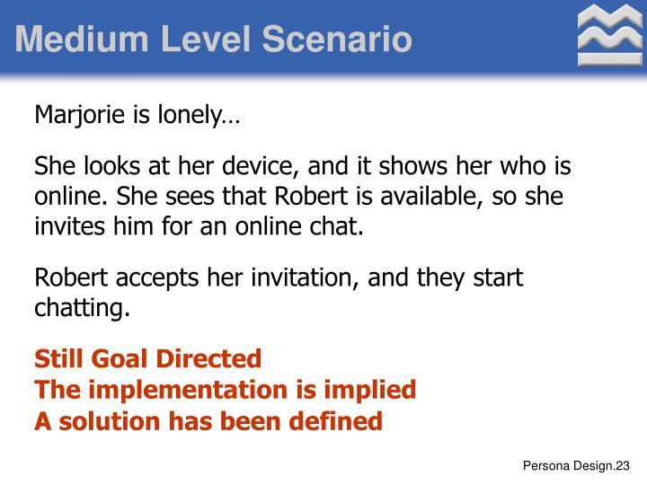 Medium Level Scenario