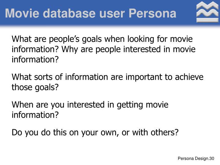 Movie database user Persona