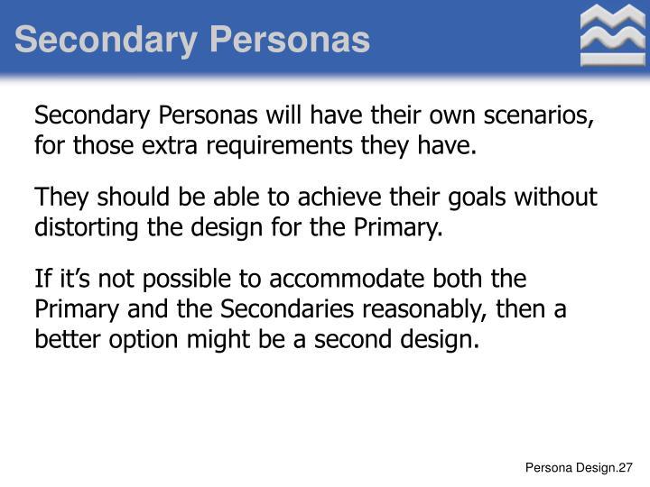 Secondary Personas