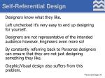 self referential design